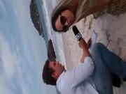 Melão pelada na praia – TV Brasileira
